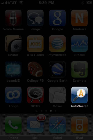 AutoSearch on the iPhone